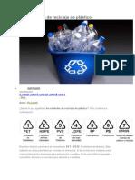 Los Símbolos de Reciclaje de Plástico