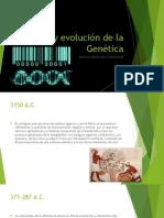 Origen y Evolución de La Genética