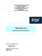 Practica 2. Mov. en Una Dimension.