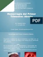 Hemorragia Del Primer Trimestre