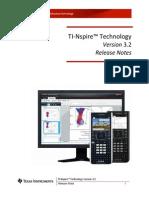 TI-Nspire 3.2 Release Notes En