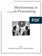 Cost Effectiveness in Textile Processing