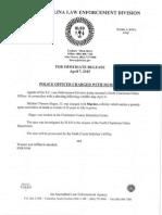 South Carolina April 7th Arrest warrant for Officer Michael Slager - SLED