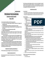 Leaflet SPMB Pascasarjana UNS-2015