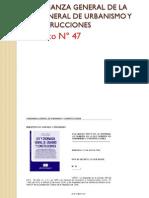 ORDENANZA GENERAL DE LA LEY GENERAL DE URBANISMO Y CONSTRUCCIONES-Decreto N° 47