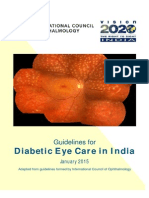 Vision 2020 India - Guidelines for Diabetic Eye Care in India