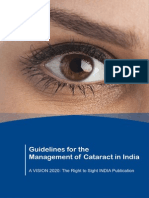 Vision 2020 India - Guidelines for the Management of Cataract in India
