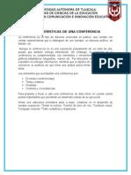 Características de Una Conferencia Act 5
