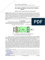 Single phase to three phase ac Matrix Converter for Traction Drives