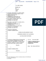 National Federation of the Blind et al v. Target Corporation - Document No. 66
