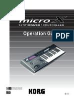 Korg MicroX Manual