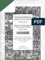 Dalmatinova Biblija in Slovenci / Mihael Glavan