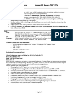 SAP Resume template