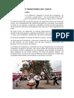 Costumbres y Tradiciones Del Cusco