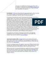 Structured Finance Describes