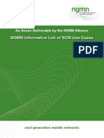 NGMN Informative List of SON Use Cases