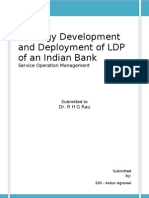Strategy Development and Deployment of LDP of an Indian bank