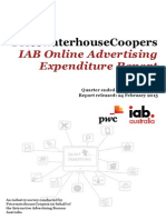 PwC IAB Online Advertising Expenditure Report Dec Qtr 2014 (1)
