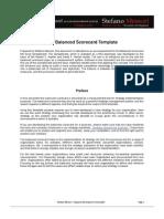 The Balanced Scorecard - Instructions & Materials