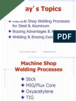 Welding in the Machine Shop