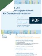 Social Media u. Bewertungsplattformen für Gesundheitsdienstleister