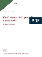 Heidegger - Dell'origine dell'opera d'arte