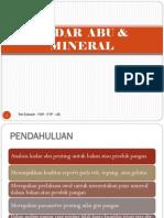 Analisis Kadar Abu Dan Mineral