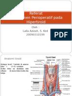 Azizah-powerpoint Referat Manajemen Perioperatif Hipertiroid