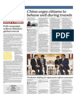 China Urges Citizens to Behave Well During Travels - Gulf Times 9 April 2015