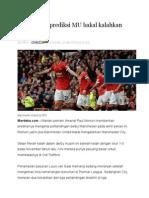 Eks Arsenal Prediksi MU Bakal Kalahkan City