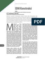 Kinerja SDM Konstruksi