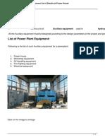 1760 Power Plant House Equipment List