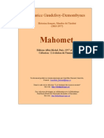Gaudefroy Demombynes Mahomet