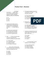Practice Structure I