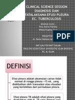 CSS - Efusi Pleura Karena Tuberculosis (Winda & Pevy)