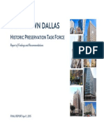 Recommendations from the Historic Preservation Task Force