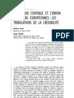 LA BANQUE CENTRALE ET L'UNION MONÉTAIRE EUROPÉENNES