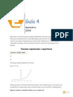 Matematica 51 - Guia 4 Funciones Exponenciales y Logaritmicas