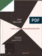 HONNETH (2003) Luta Por Reconhecimento - Capítulos 5 e 6