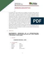 Memoria Descriptiva Final Colegio Santa Isabel