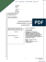 """The Apple iPod iTunes Anti-Trust Litigation"" - Document No. 82"