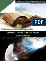 Lección 15 - El Espíritu Santo en La Proclamación Del Evangelio