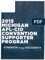 Michigan AFL-CIO Convention Supporter Program