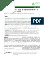Type of Vegetarian Diet, Obesity and Diabetes In