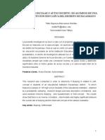 Acoso Escolar y Autoconcepto en Alumnos de Una Institución Educativa Del Distrito de Pacasmayo