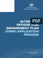 Aus Alternate Fatigue Managment Plan AMSA494 2013