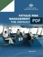 Aus Fatigue Management Plan Default 2013