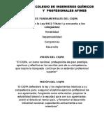 Valores Visión y Misión del CIQPA Costa Rica