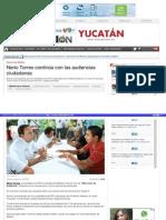 10-04-2015 Nerio Torres Continua Con Las Audiencias Ciudadanas