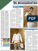La double page de L'Equipe le 27 octobre 2008